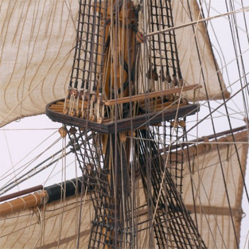 Admiral Nelsons HMS Victory - Vollständige Segel und Takelage