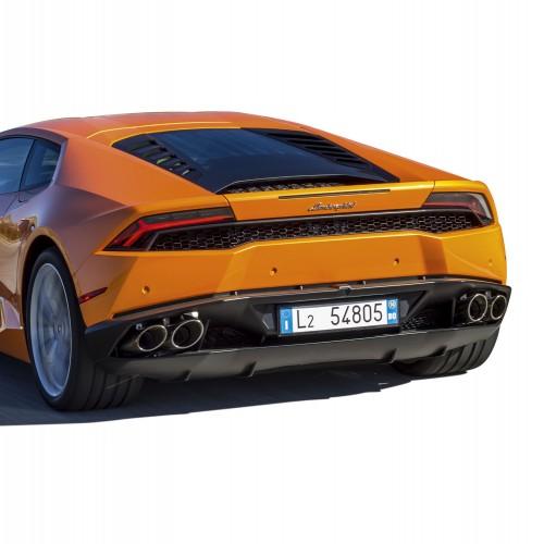 Baue und fahre den Lamborghini Huracán - Auspuff: Vier-Rohr-Anlage