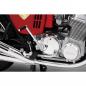 Honda Dream CB750 FOUR - Der Kickstarter ist betriebsbereit. Das Dröhnen des Motors ertönt über die Lautsprecher im Sockel.