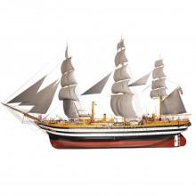 Costruisci l'Amerigo Vespucci | Modello di Nave in Scala 1:100