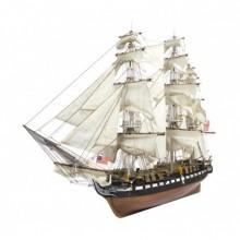 Costruisci la USS Constitution in scala 1:76