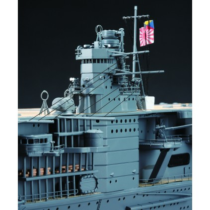 Build IJN Akagi - The Island is constructed from multiple highly detailed metal csatings