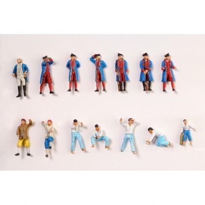 Set di 14 figurini in metallo | Hermione La Fayette