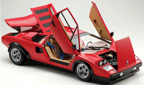 Lamborghini Countach LP 500S Model - Movable parts, including the Countach's iconic scissor doors.