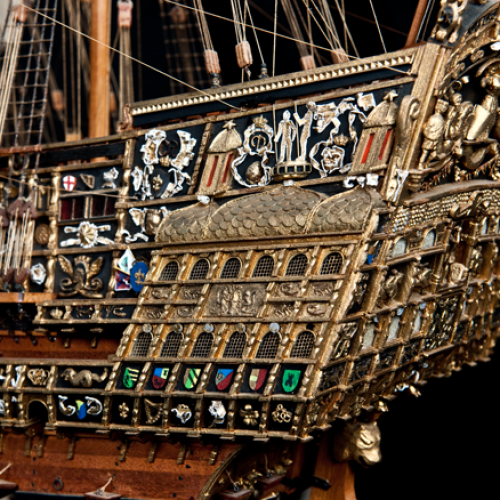 Build the Sovereign of the Seas - 1:84 wooden scale model of the original vessel