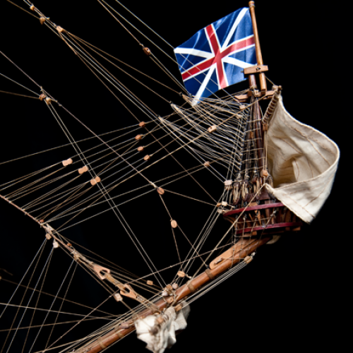 Build the Sovereign of the Seas - Flags are supplied already cut and sewn