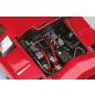Lamborghini Countach LP 500S Model-The bonnet opens to reveal the engine.