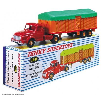 Le tracteur Willème et semi-remorque bâchée