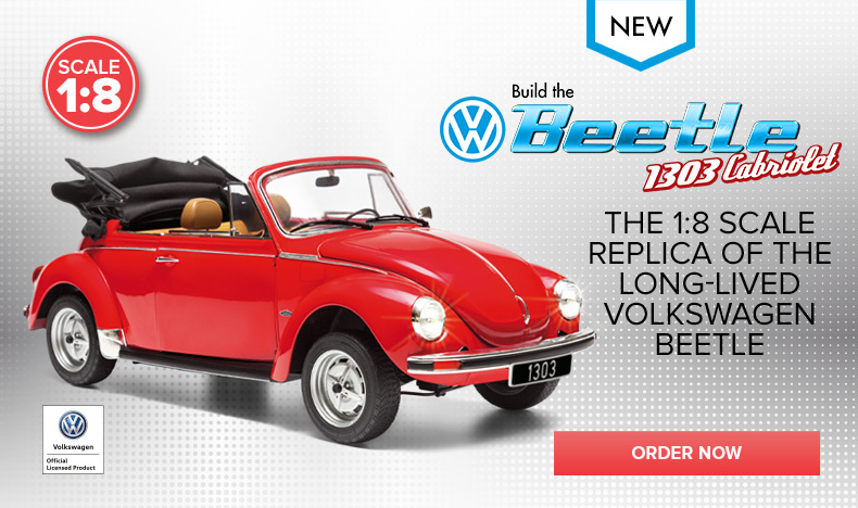 Build the Volkswagen Beetle 1303 Cabriolet Model Car
