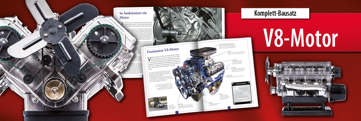 V8-Motor Bausatz