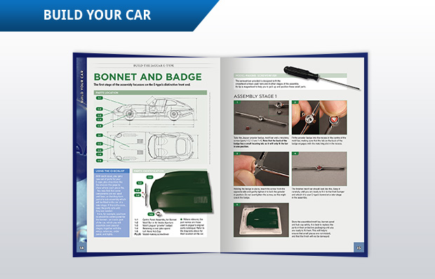 These step-by-step assembly instructions make it easy to put together the parts supplied with each issue. There are a lot of hints and tips to make it easy for novices and expert builders alike.