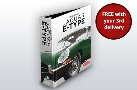 Your first Build the Jaguar E-type Binder to keep your magazines ordered and pristine FREE with your 3rd delivery