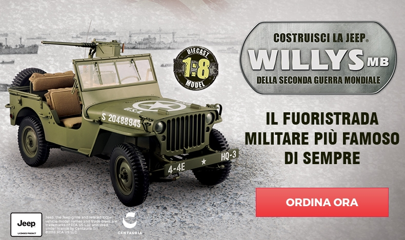 Jeep Willys MB modellino jeep militare