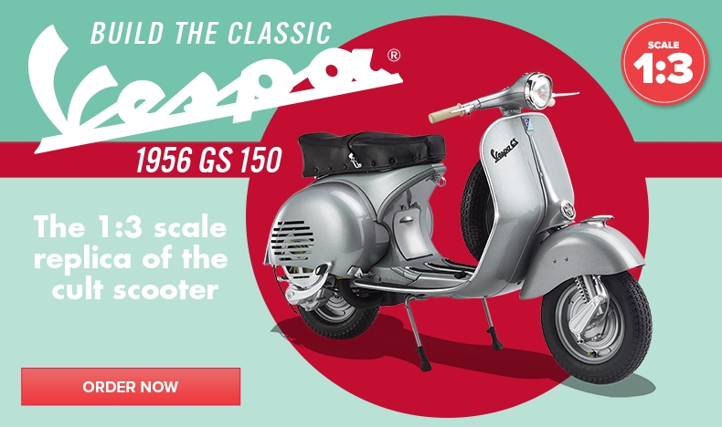 Build the Vespa GS 150 model scooter