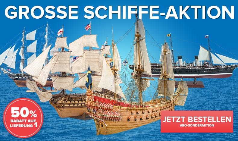 Schiffe-Aktion: 50% Rabatt auf Lieferung 1