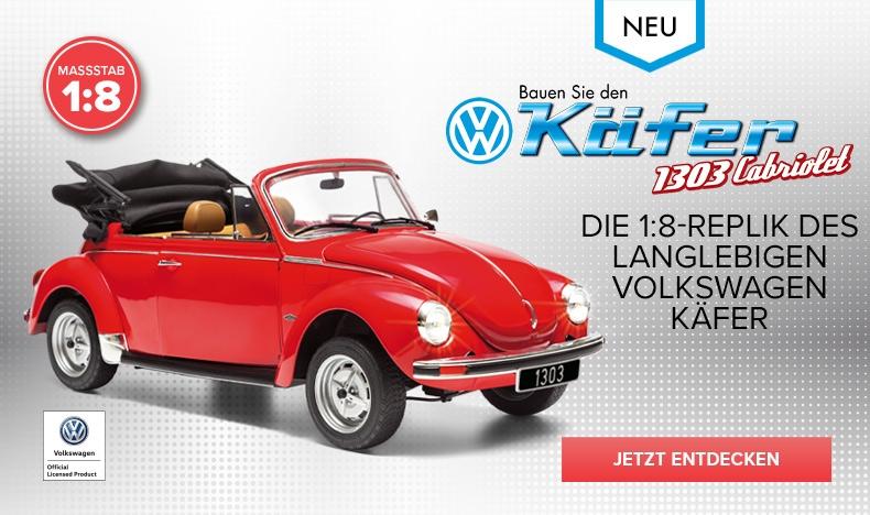 Bald erhältlich: Das VW Käfer Cabriolet 1303