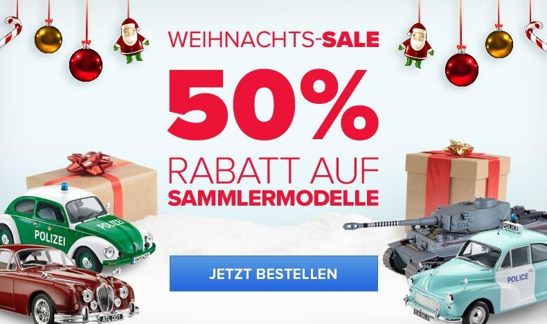 50% Rabatt auf Sammlermodelle