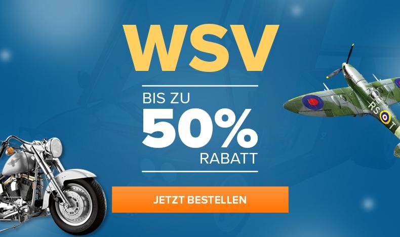 WSV - Bis zu 50% Rabatt
