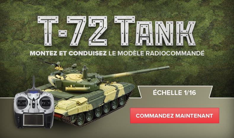 Montez et conduisez le modèle radiocommandé  T72