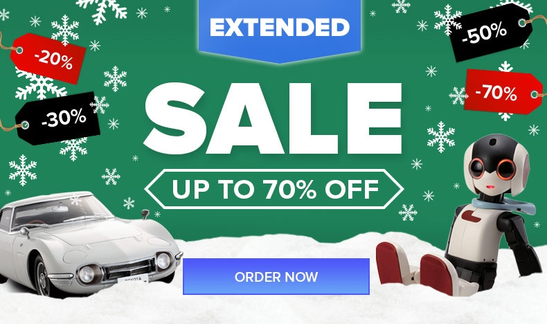 January Sale Extended: Up to 70% Off