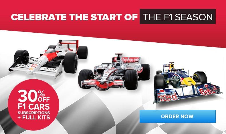 30% OFF F1 Cars