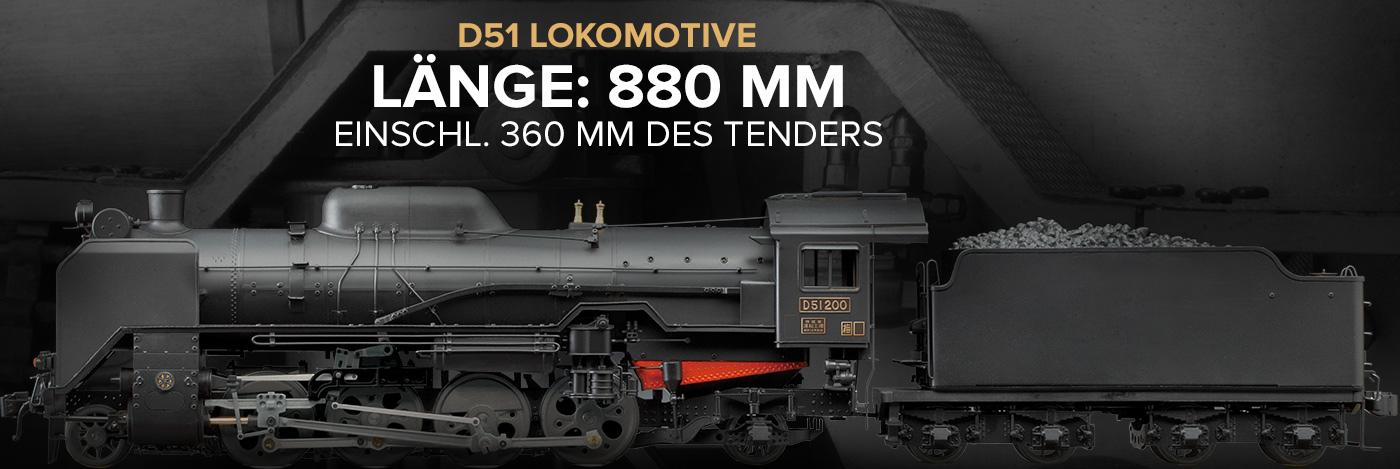 Dampflokomotive D51