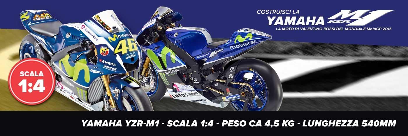 Costruisci la Yamaha YZR-M1 di Valentino Rossi