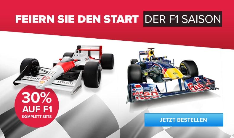 30% Rabatt auf F1 Komplett-Sets
