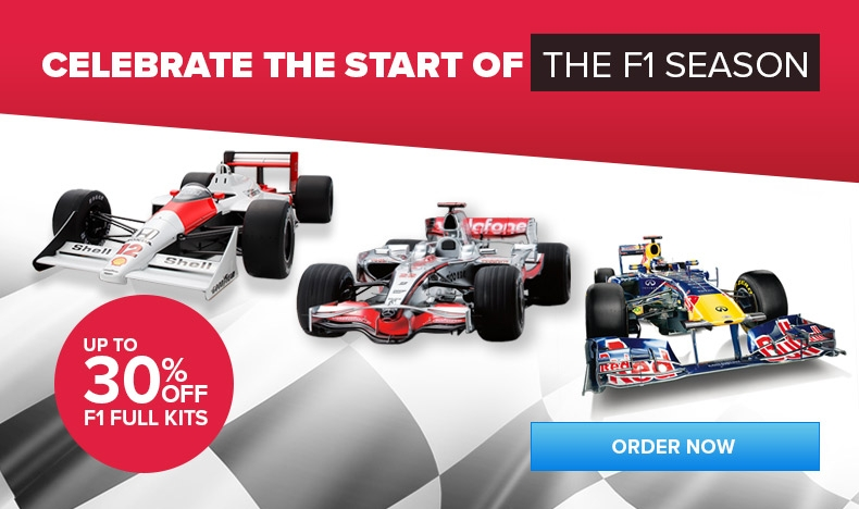 Up to 30% Off F1 Full Kits