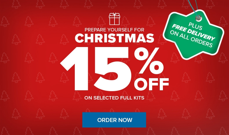 Prepare for Christmas: 15% Off + Free Shipping