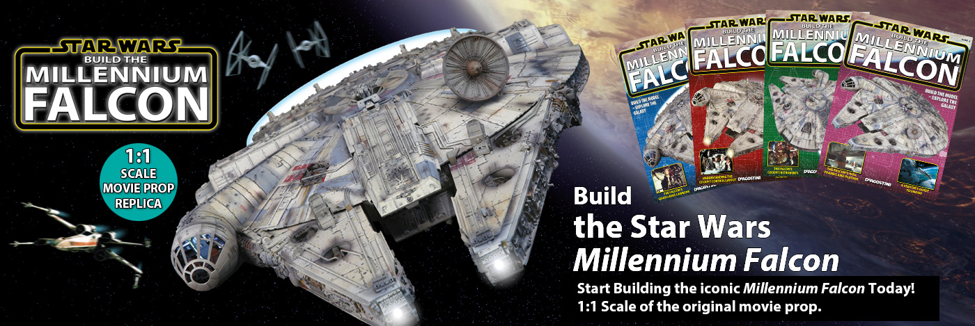 Millennium Falcon with magazines