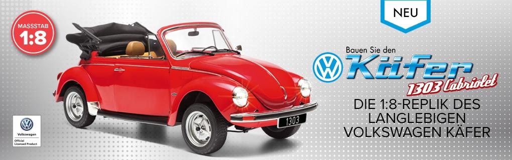 Bauen Sie das VW Käfer 1303 Cabriolet Modell - Bald erhältlich
